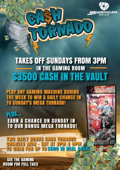 Cash Tornado Gaming Promotion